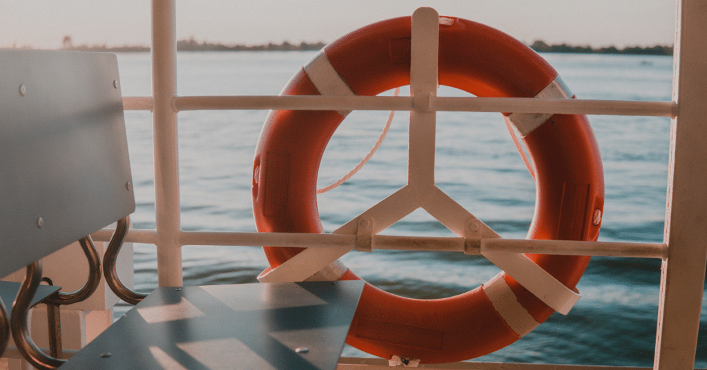 Life ring on a boat